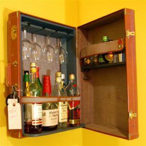 Suitcase of booze